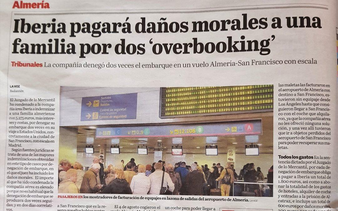 Iberia pagará daños morales a una familia por dos 'overbooking' – La Voz de Almería