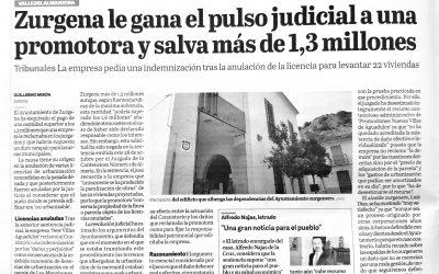 Zurgena le gana el pulso judicial a una promotora y salva más de 1,3 millones